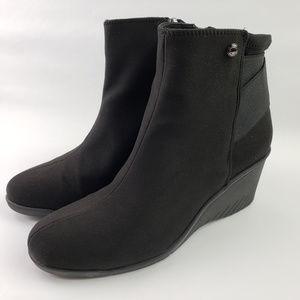 Anne Klein AK Sport Wedge Heel Black AKARORA Boots